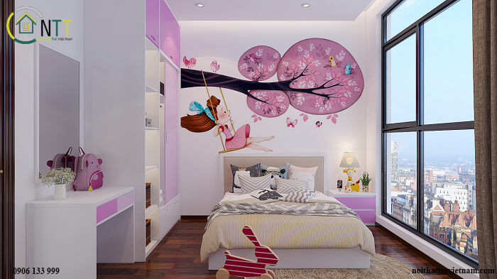 Phòng ngủ dễ thương cho con gái