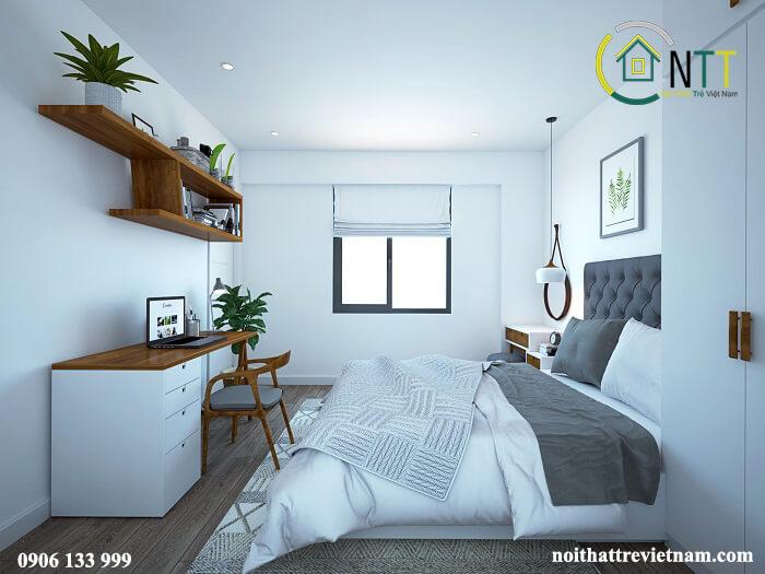 trang trí phòng ngủ nhỏ hẹp đẹp và tươi sáng
