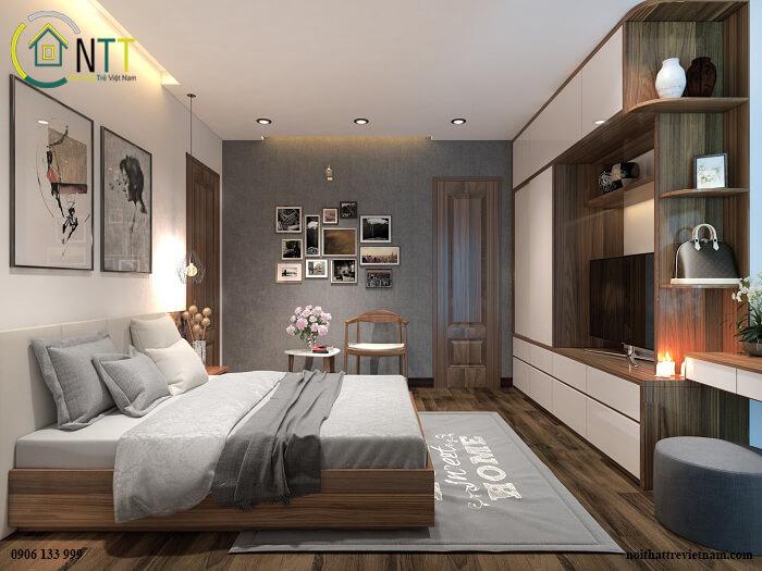 Nếu bạn yêu thích các khung tranh nghệ thuật thì có thể lựa chọn một vài bức treo ở đầu giường