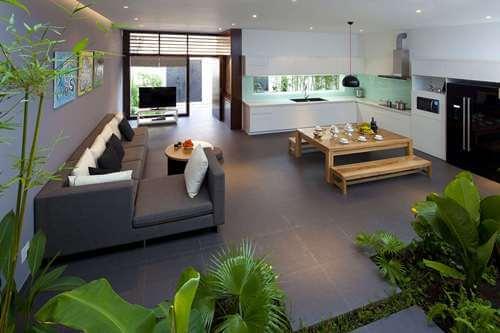 Mẫu 1 - Nội thất nhà ở đẹp hài hòa với thiên nhiên