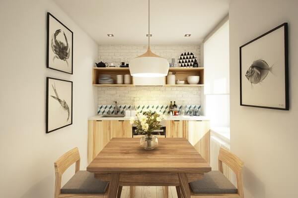 Một khu vực nhà bếp / phòng ăn