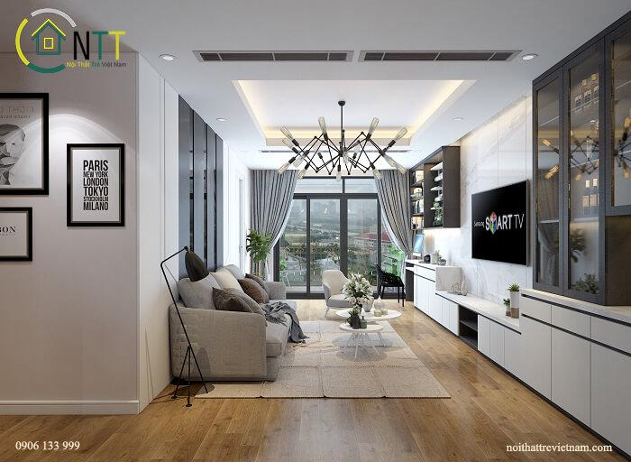 Mẫu nội thất chung cư 60m2 thứ 2