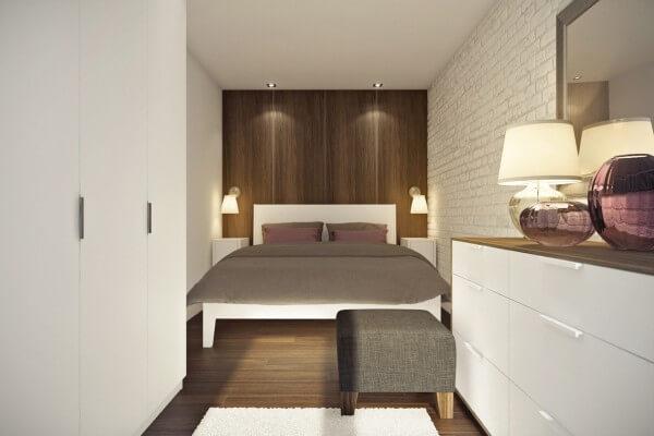 đầu giường trang trí gỗ tạo ảo giác tăng chiều sâu