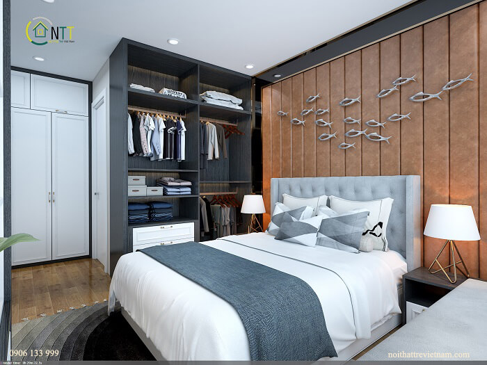 Phòng ngủ tiện nghi và bắt mắt với lối trang trí độc đáo
