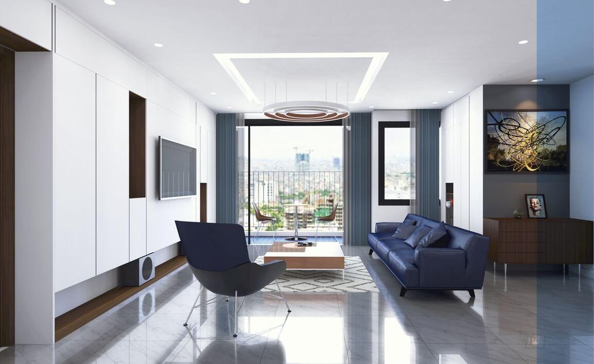 Mẫu 3 - Nội thất phòng khách đẹp hiện đại