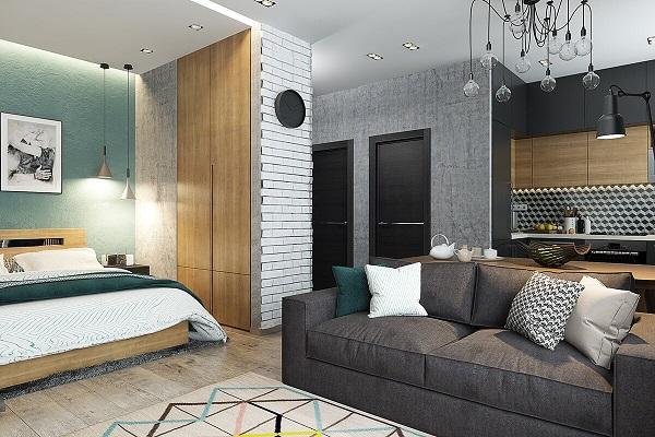 Thiết kế căn hộ cho thuê đẹp 30m2