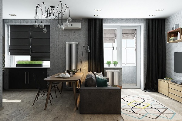 Màu sắc sống động giúp làm nổi bật không gian phòng khách