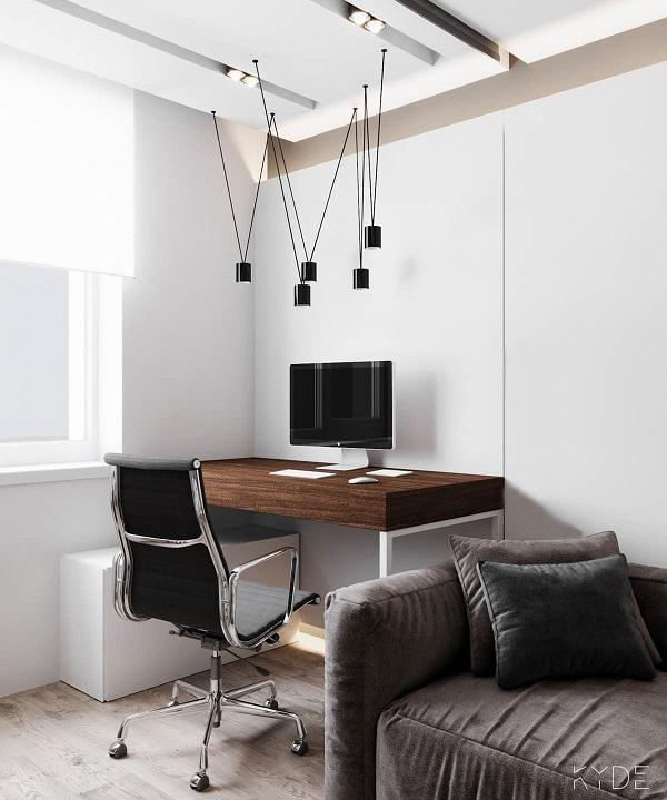 Một khu vực văn phòng nhỏ tại nhà