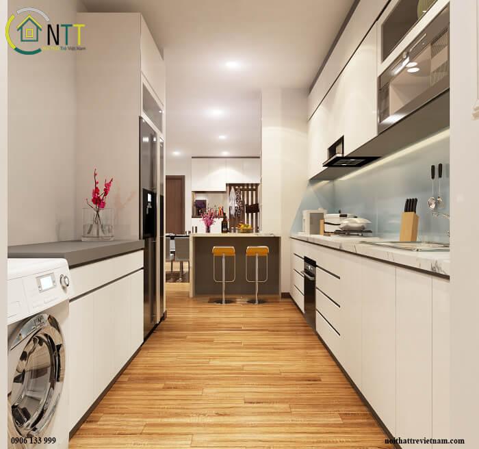 Tủ bếp treo tường Tủ bếp chung cư