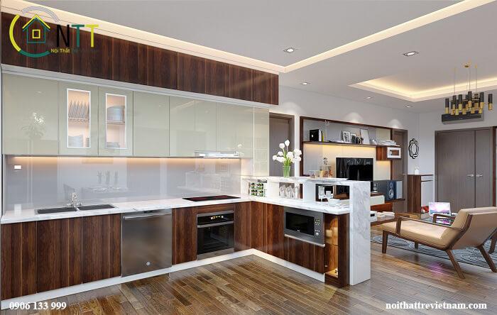 Tủ bếp mini hà nội