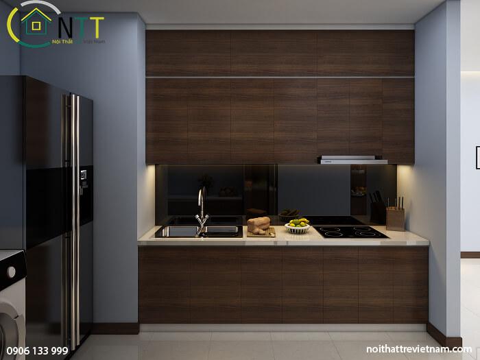 Tủ bếp nhỏ xinh đơn giản