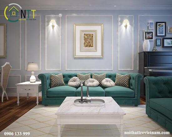 Mẫu 4 - Bàn ghế sofa cao cấp