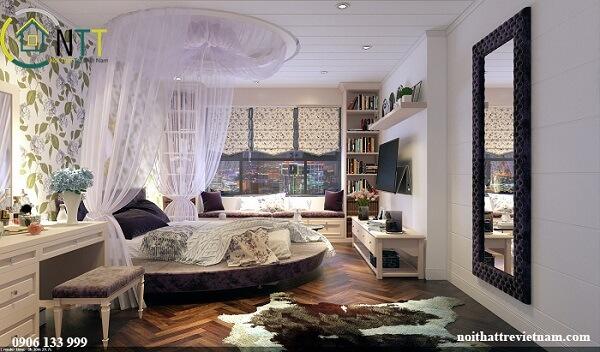 Ý tưởng 1 - Trang trí phòng ngủ bằng giấy dán tường