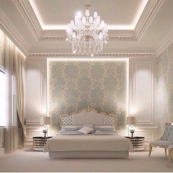 Ý tưởng 18 – Cách trang trí phòng ngủ bằng giấy dán tường tân cổ điển