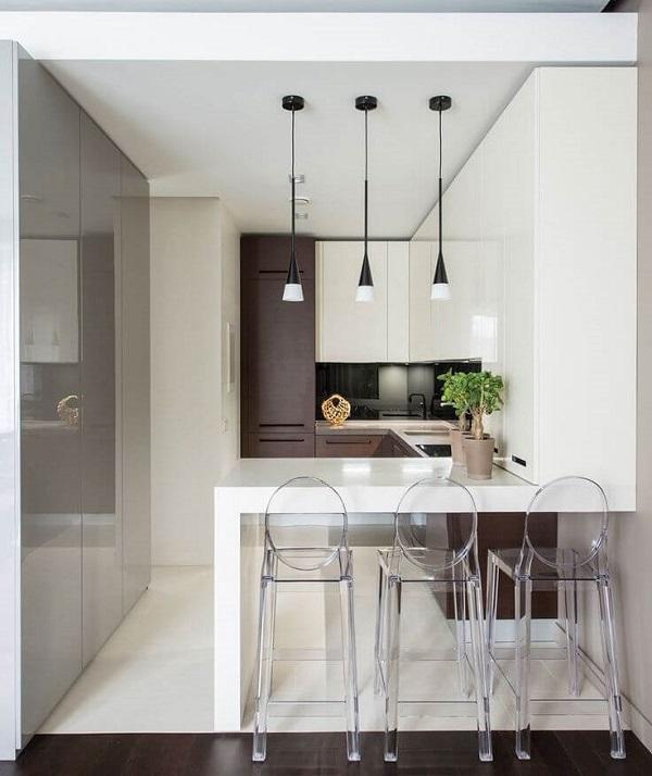 Mẫu 18  – Quầy bar ngăn phòng khách và bếp đẹp