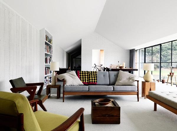 Mẫu 2 - Trang trí nội thất phòng khách nhà cấp 4