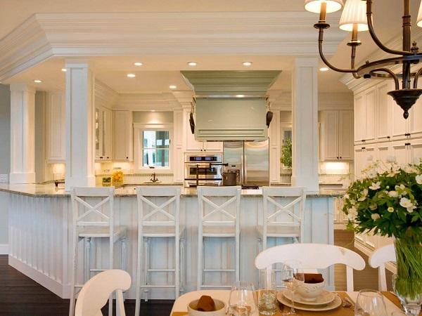Mẫu 19  – Quầy bar ngăn phòng khách và bếp đẹp