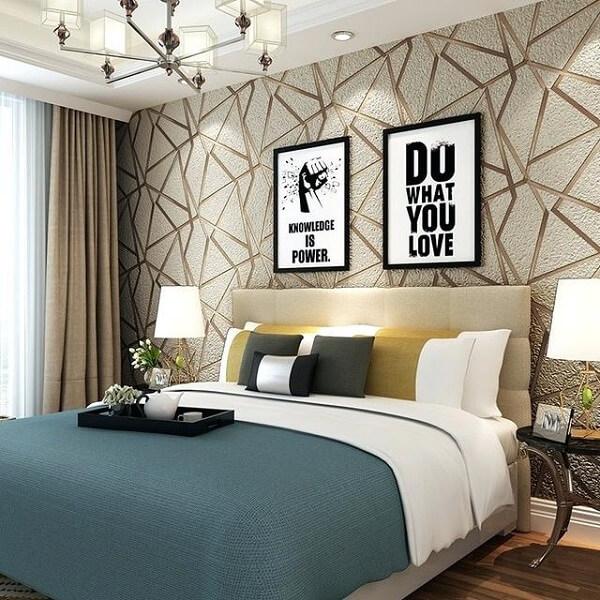 Ý tưởng 30 - Giấy dán tường 3d phòng ngủ