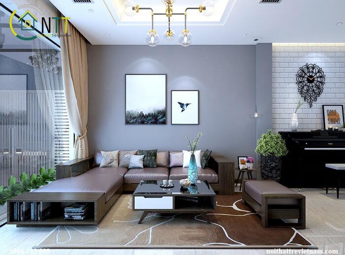phòng khách thiết kế theo xu hướng mở hiện đại