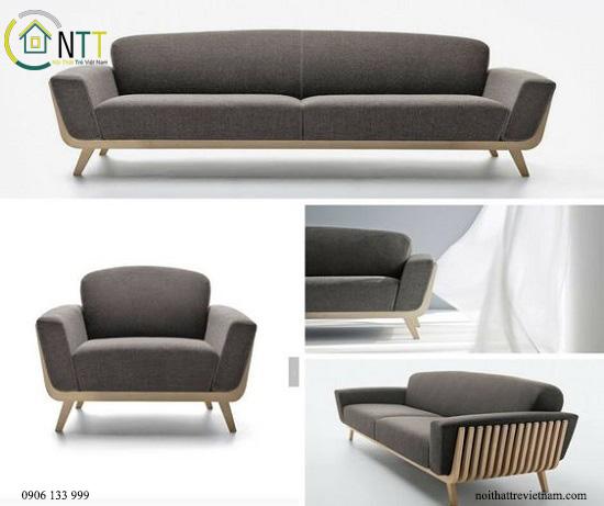 Bộ bàn ghế sofa gỗ phòng khách bọc nỉ sofikin