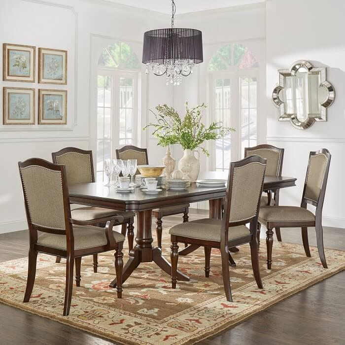 Mẫu 40 -  Bộ bàn ghế ăn gỗ đẹp