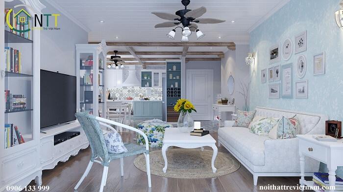 Thiết kế phòng khách và bếp liền nhau