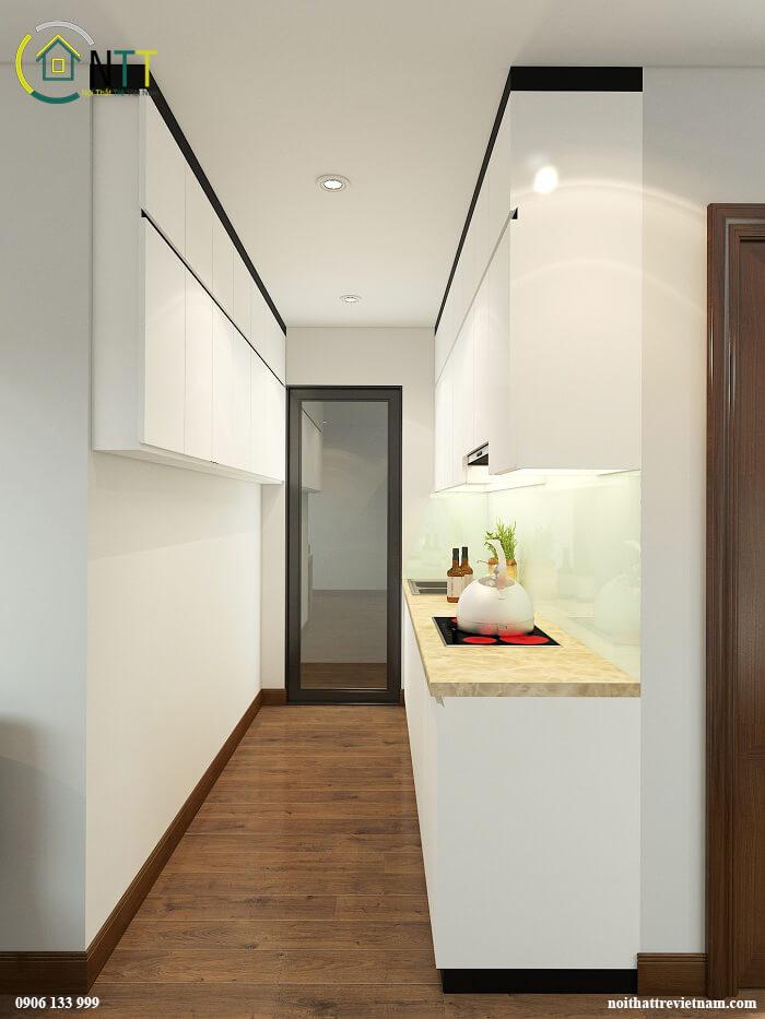 Phòng khách liền bếp 20m2