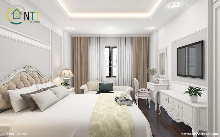 phòng ngủ master nhà phố 3,4m mặt tiền