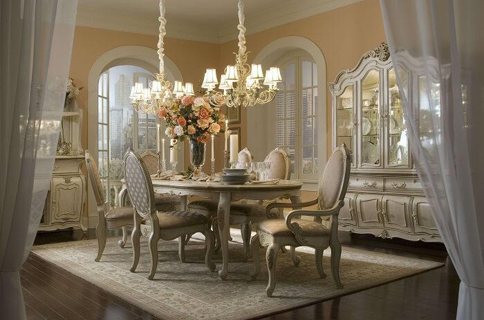 phòng ăn cổ điển đẹp