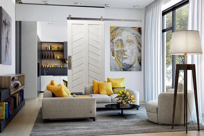Ý tưởng thiết kế phòng khách nội thất âm tường