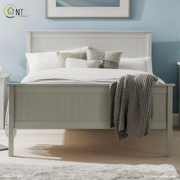 Mẫu 10 Giường màu trắng hiện đại