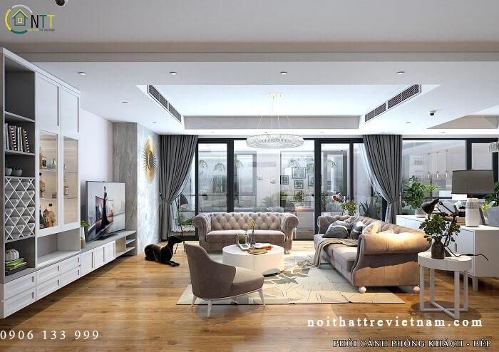 phòng khách chung cư cao cấp