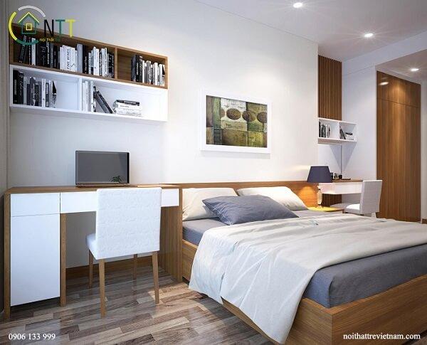 Mẫu 18 - Cách đặt bàn làm việc trong phòng ngủ