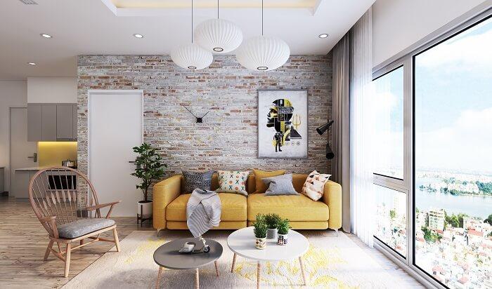 Phòng khách chung cư đơn giản đẹp