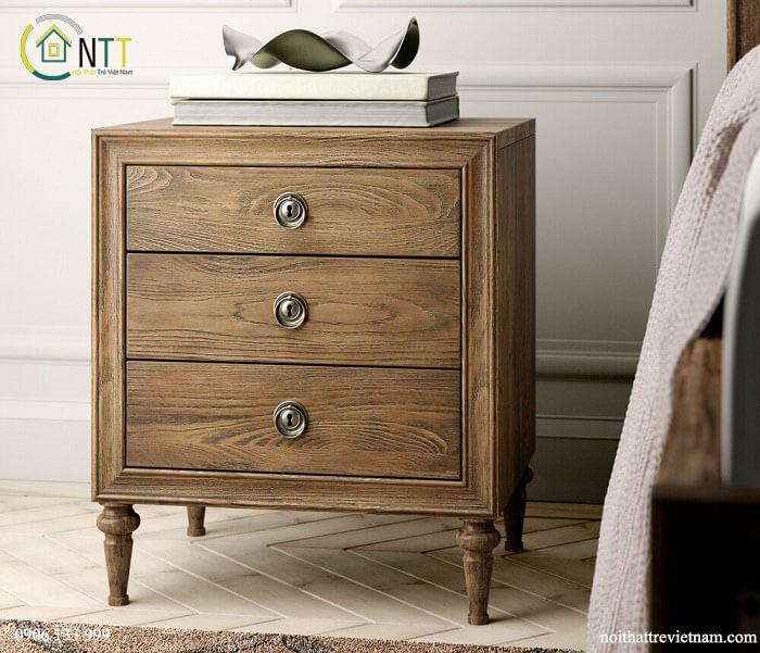 Mẫu 29 - Tủ đầu giường gỗ tự nhiên