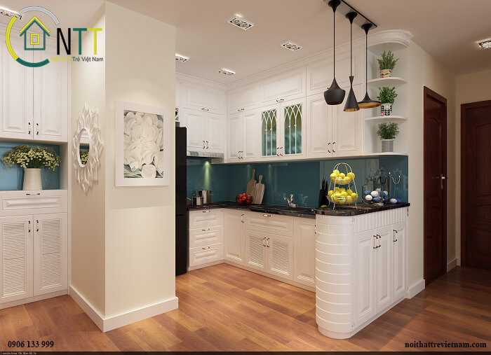Mẫu 7 - Tủ bếp đẹp và sang trọng ở Park Hill