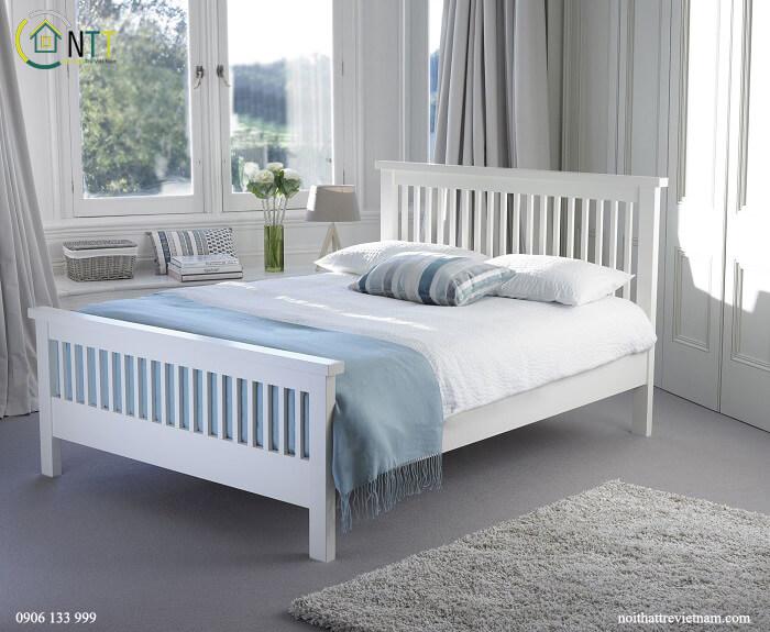 Mẫu 8 - Giường màu trắng đẹp và thanh lịch