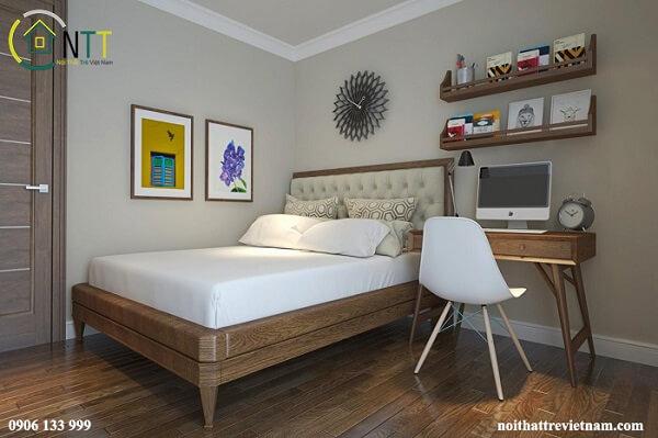 Mẫu 8 - Thiết kế bàn làm việc trong phòng ngủ