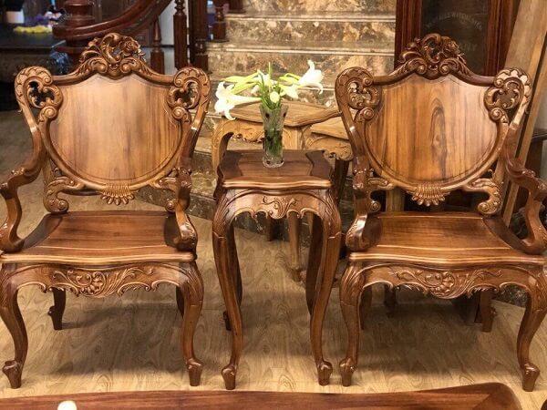 bàn ghế gỗ gụ ta 1