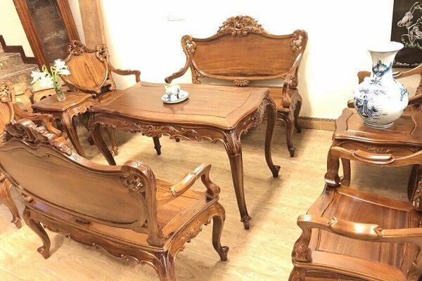 bàn ghế gỗ gụ ta 2