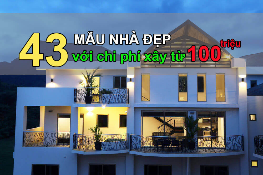 43 mẫu nhà đẹp cấp 4 giá chỉ từ 100 triệu