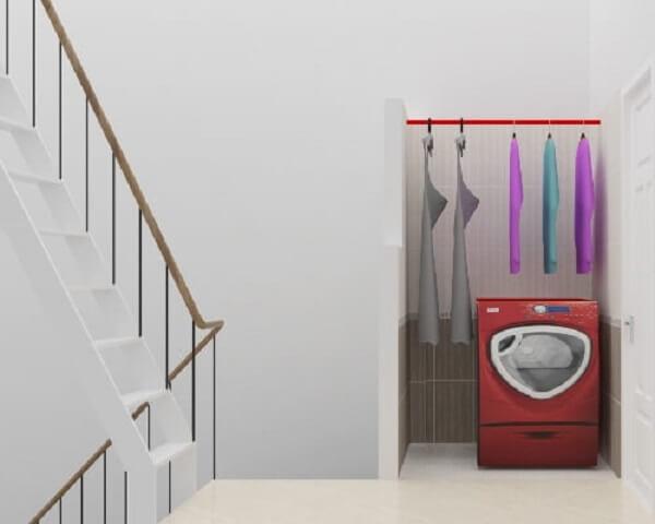 Phòng giặt phơi lấy sáng từ cầu thang