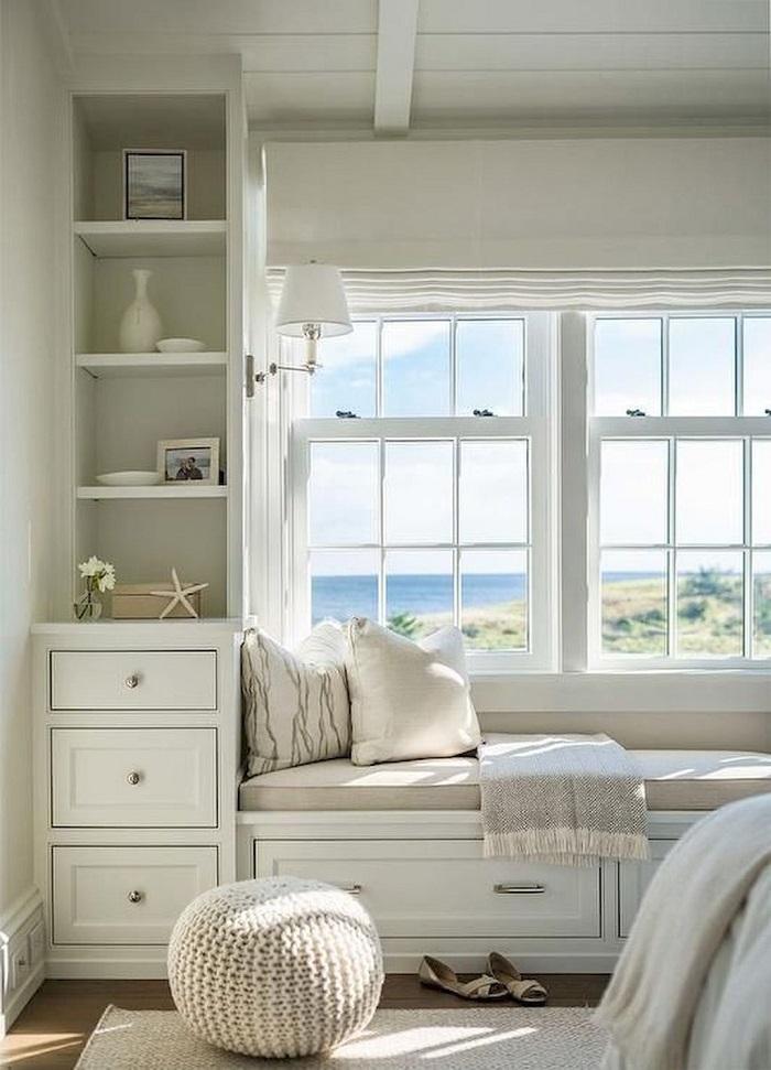 Mẫu 9 góc đọc sách tinh tế gần cửa sổ