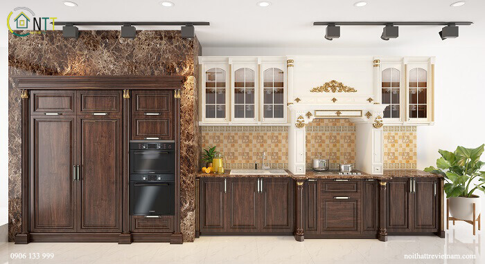 nội thất phòng bếp nhà ống