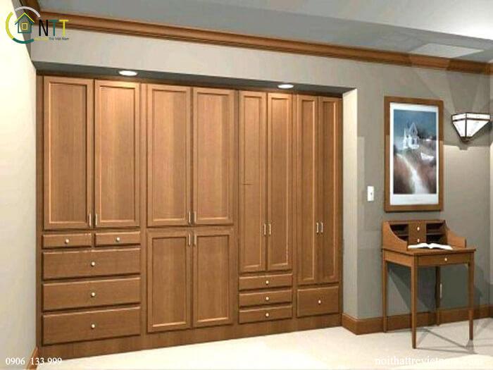 Mẫu 11 - Tủ áo gỗ sồi hiện đại