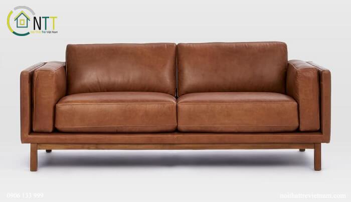 Mẫu 18 - Sofa văng da