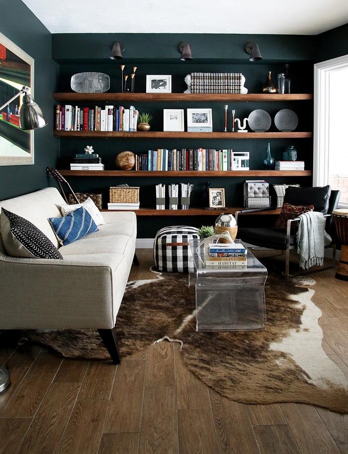 Mẫu 27 bố trí không gian khu vực đọc sách gia đình