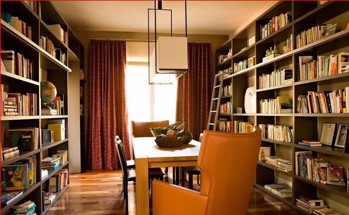 Mẫu 28 bố trí không gian khu vực đọc sách cho gia đình 