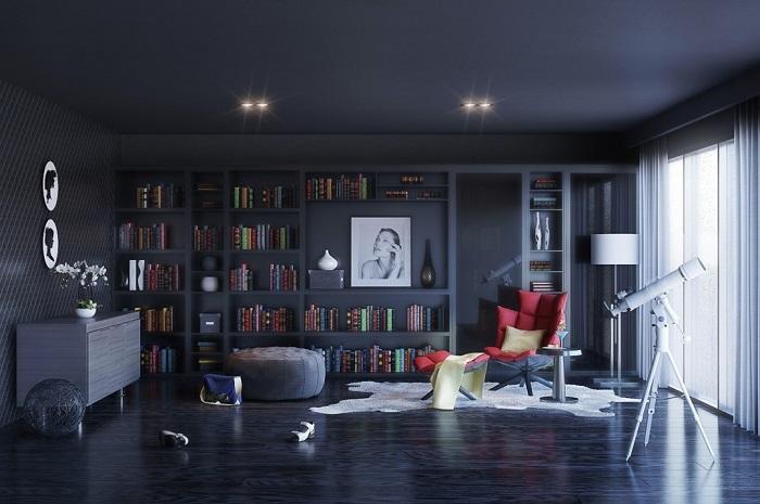 Mẫu 3 thiết kế phòng đọc sách đẹp cuốn hút