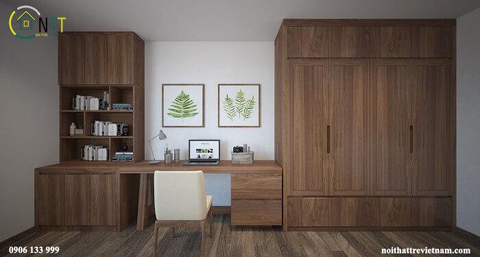 Mẫu 3 - Tủ áo gỗ sồi Mỹ